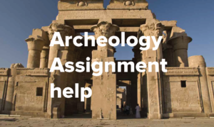 Archaeology coursework help